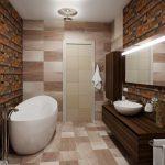 Мебель из дерева в ванной