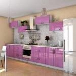 Классический дизайн фиолетовой кухни