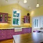 Фиолетово-желтая кухня