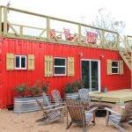 Красный дачный домик