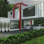 Дом с местом для машин