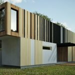 Двухэтажный дом из контейнеров