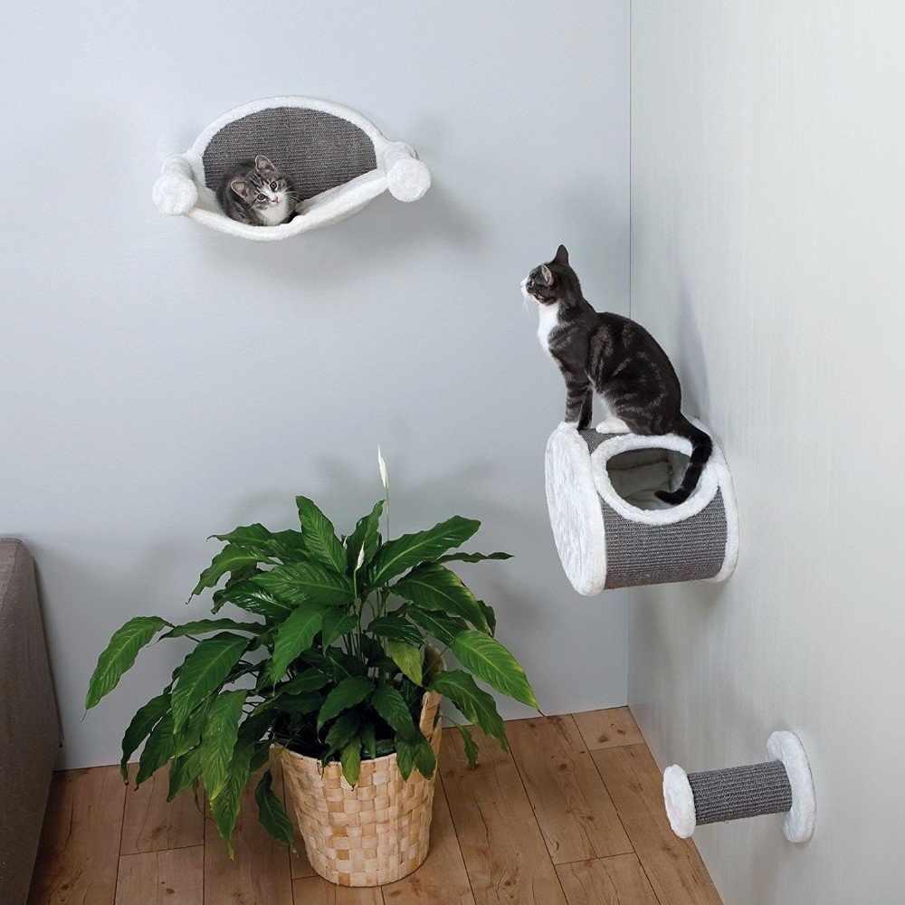 Настенный вариант крепления домика для кошек