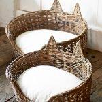 Плетеный домик с ушками для кошки