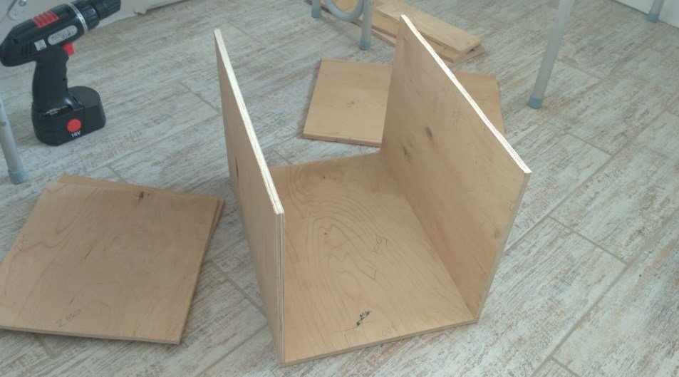 Домик из дерева, шаг 1