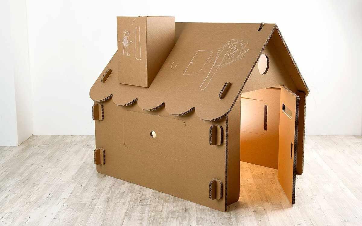 Складывающийся домика из картона