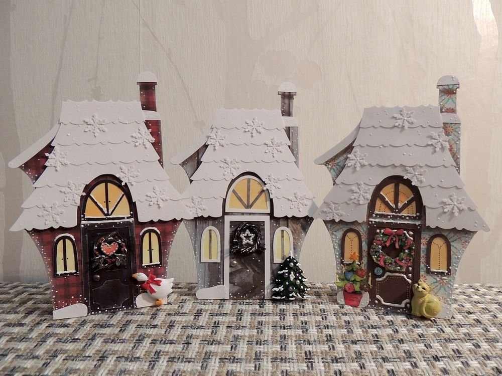 Декоративные новогодние домики