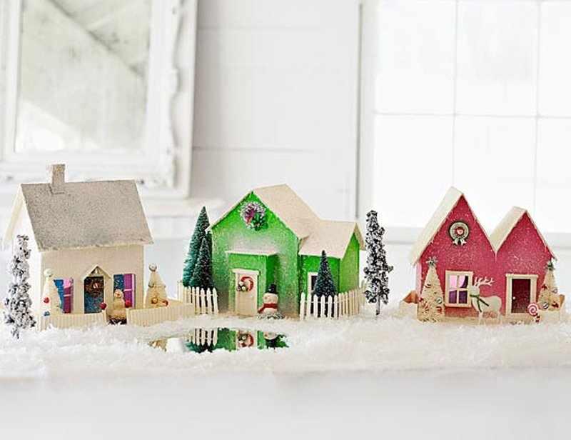 Декор новогодних домиков