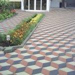 Вариант укладки тротуарной плитки