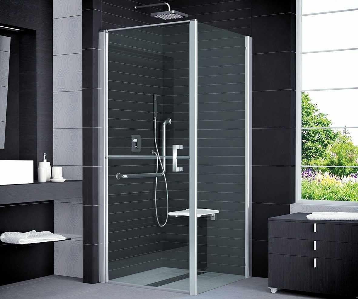 Черная плитка в оформлении ванной комнаты