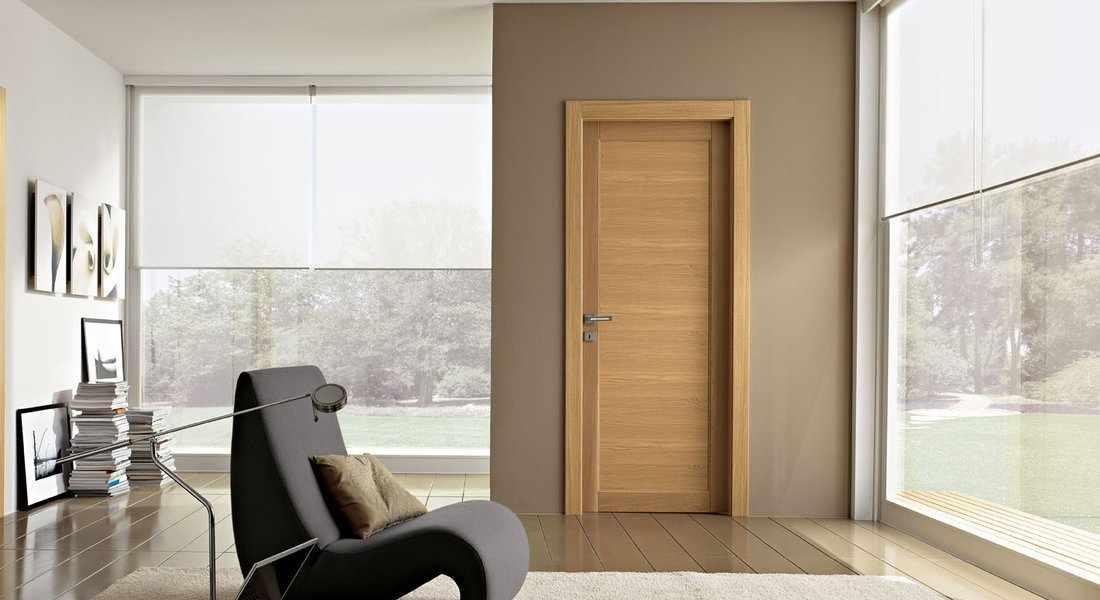 Интерьер комнаты в стиле модерн с дверью