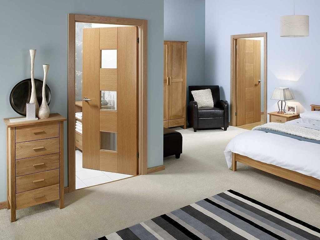 Ламинированные двери в интерьере спальни