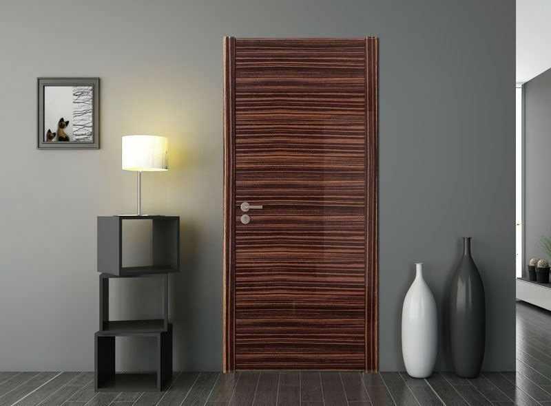 Красивые шпонированные двери в интерьере