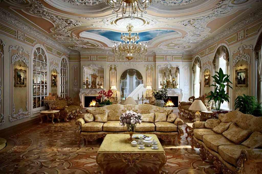 Отделка интерьера в дворцовом стиле