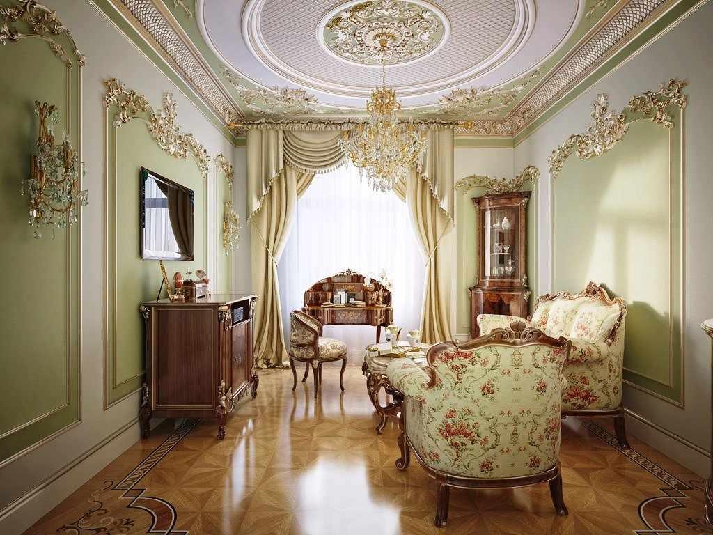 Лепнина - одна из черт интерьера в дворцовом стиле