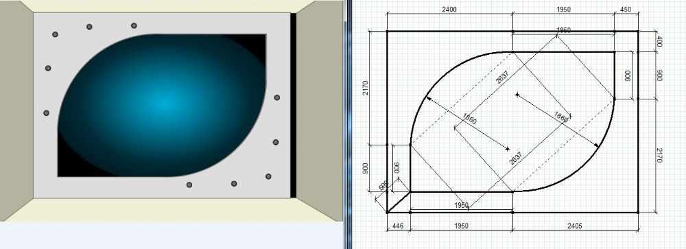 Проект двухуровневого потолка