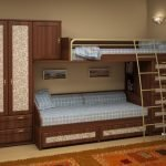 Вариант дизайна комнаты с двухъярусной кроватью