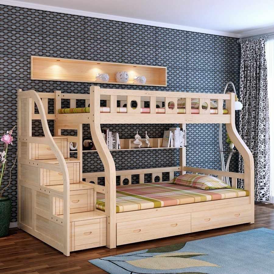 Двухъярусная кровать в эко-стиле
