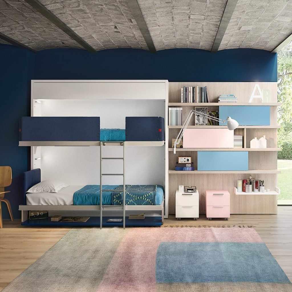 Комната в сине-белых тонах