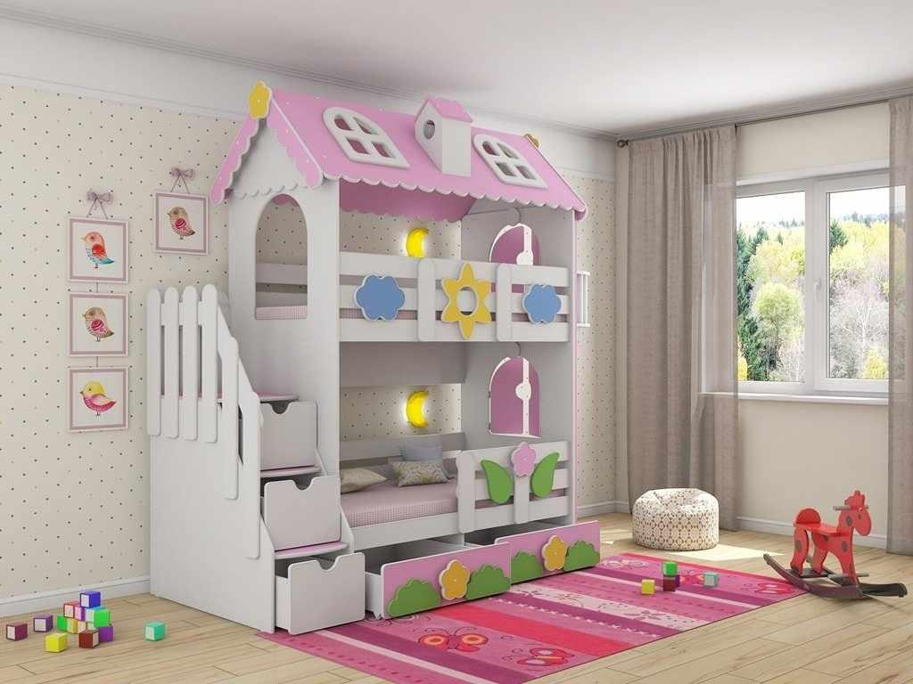Сказочная двухэтажная кровать
