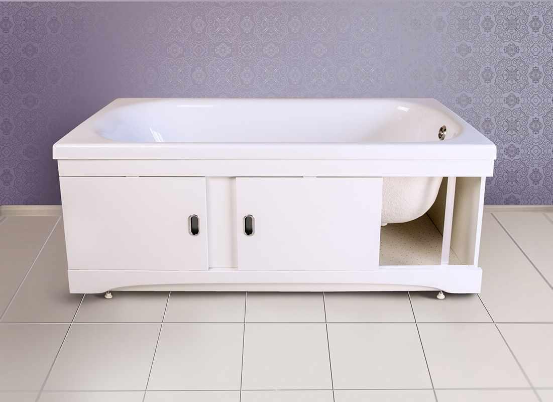 Конструкция экрана на ванне
