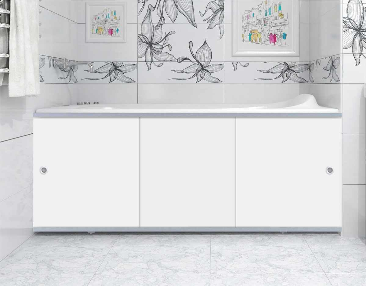 Уникальная деталь интерьера - одно из преимуществ экрана на ванне