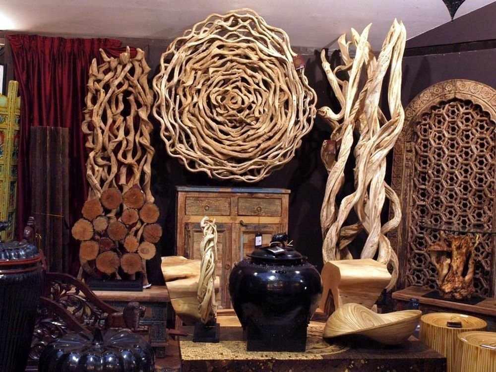 Декор из дерева в интерьере