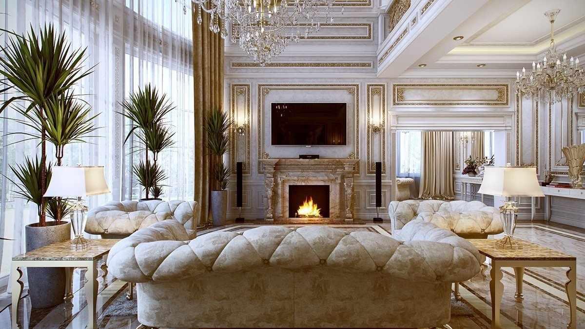 Светлая мебель в элитном интерьере