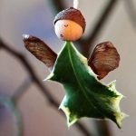 Ангел из листьев дуба