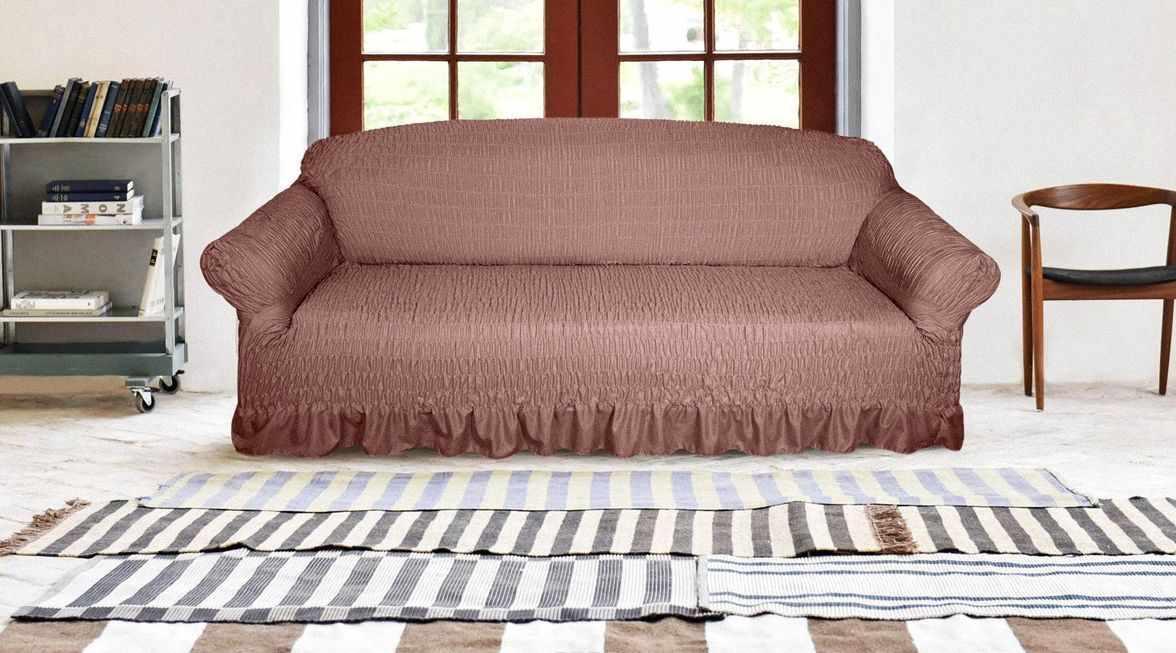 Надежность - одно из достоинств еврочехла на диван