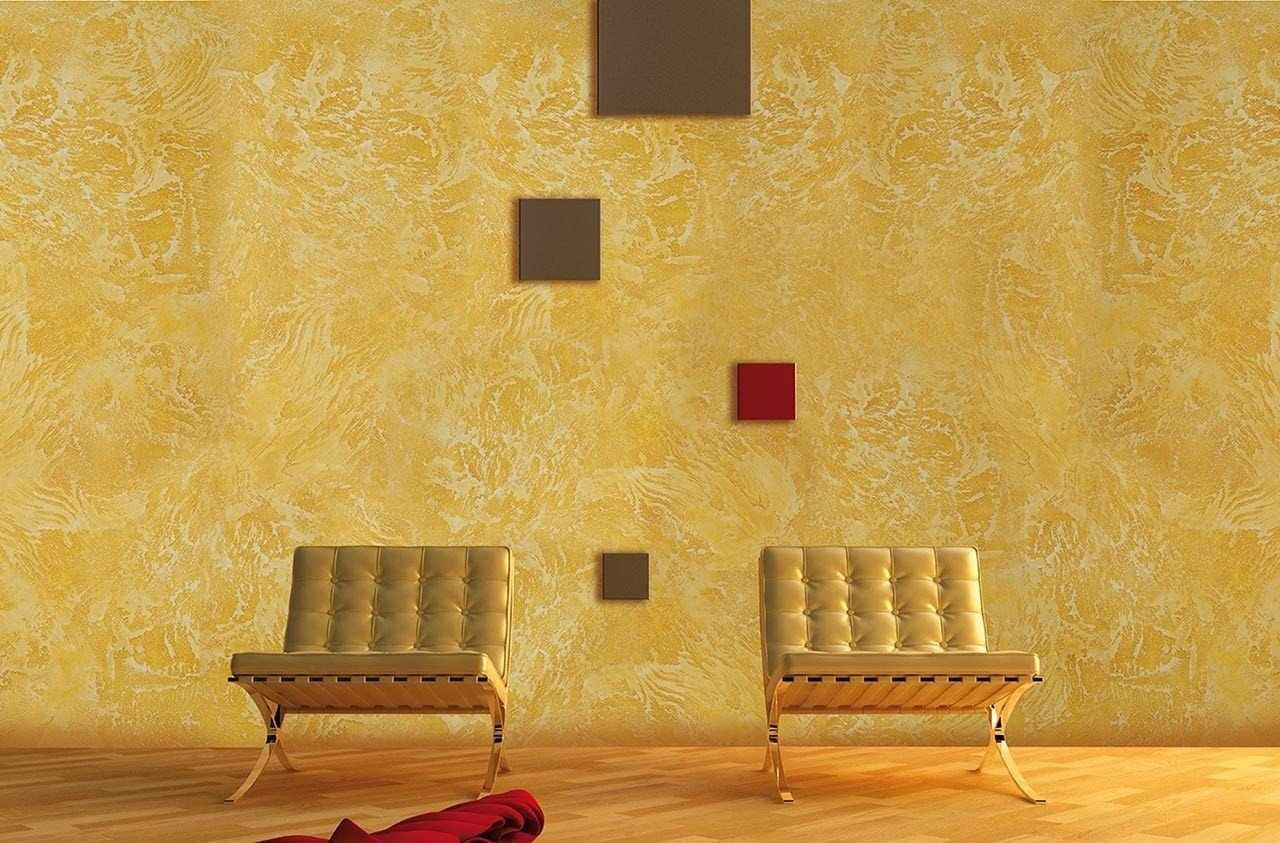 Фактурная краска для стен в интерьере