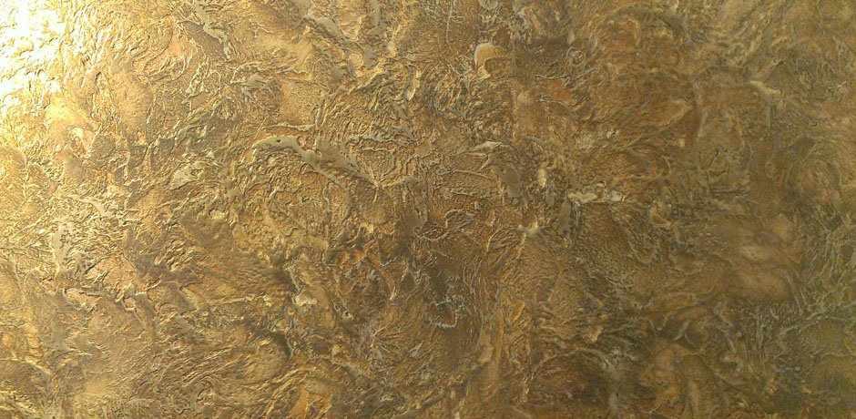 Краска Марсельский воск на стене