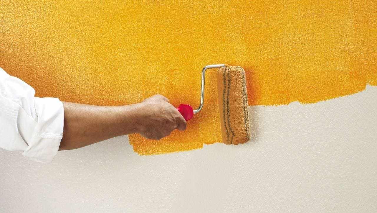 Нанесение сухой фактурной краски