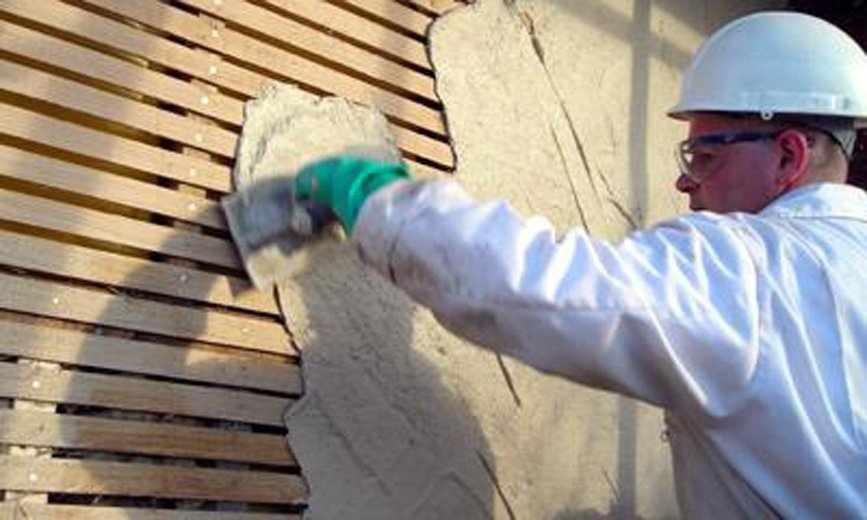 Нанесение штукатурки на деревянный фасад