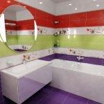 Ванная в трех цветах
