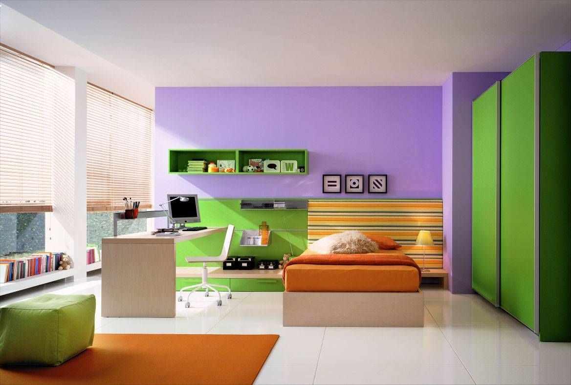 Спальня в трех цветах