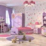 Сиреневая мебель для детской