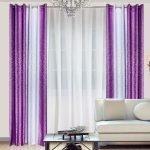 Бело-фиолетовые шторы