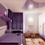 Интерьер фиолетовой детской