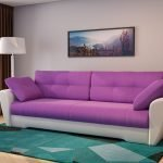 Серо-сиреневый диван