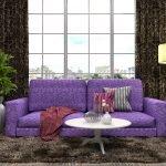 Сиреневый диванчик для гостиной