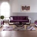 Фиолетово-белый диван
