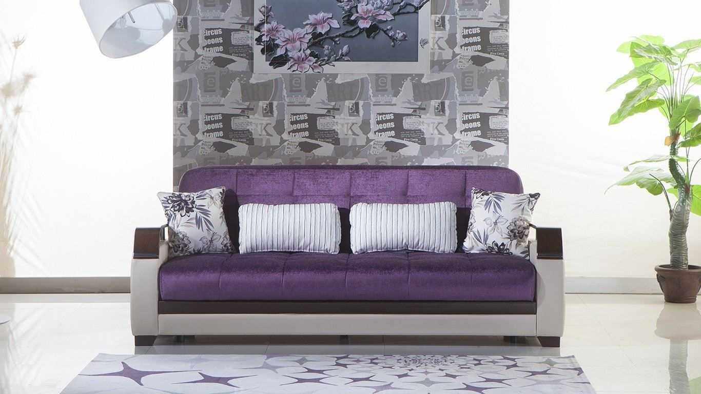 Роскошный фиолетовый диван
