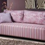 Светло-сиреневый диван