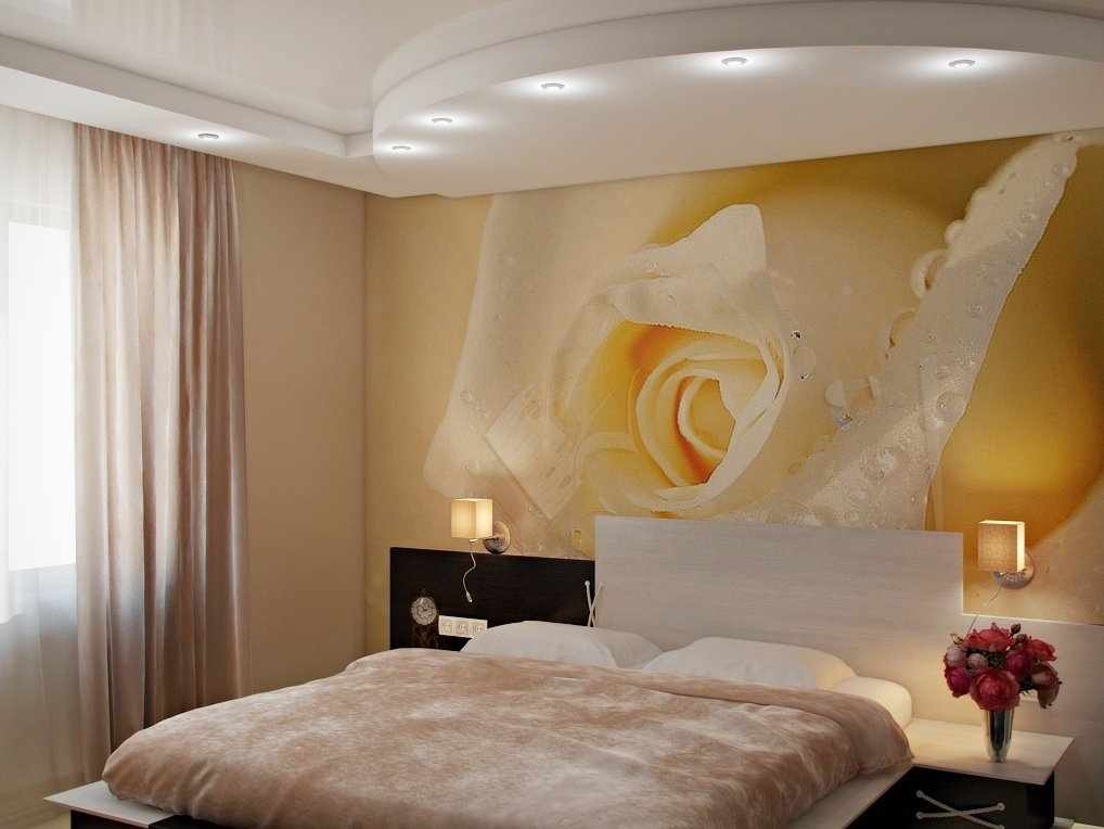 Интерьер спальни в пастельных тонах