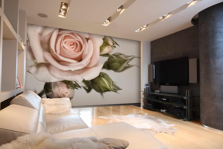 Фотообои розы для гостиной