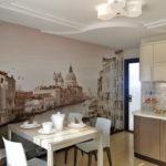 Фотообои на кухне и столовой