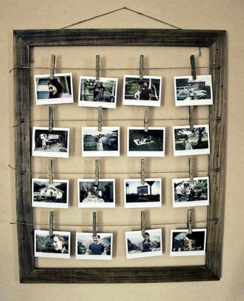Пример размещения фотографий на просушку
