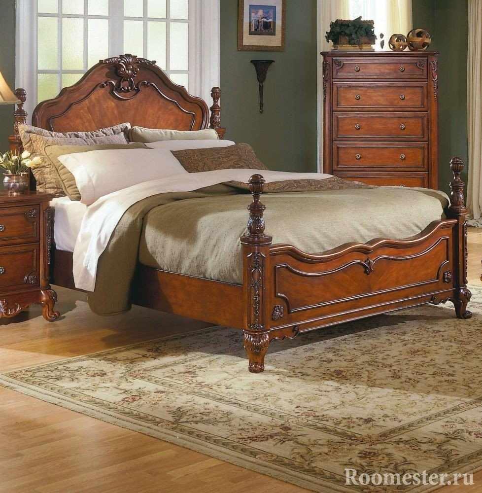 Деревянная мебель для спальни во французском стиле