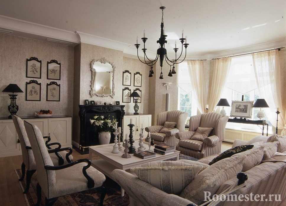 Оформление гостиной во французском стиле
